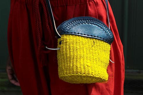 Neon yellow petite sling bag