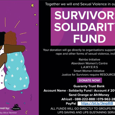 Purposeful Productions announces Survivors Solidarity Fund to address gender based violence in SL
