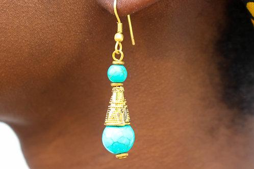 Torqoise pendant earrings
