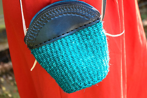 Teal  petite sling bag