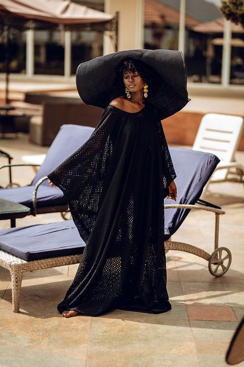 Black see through gown