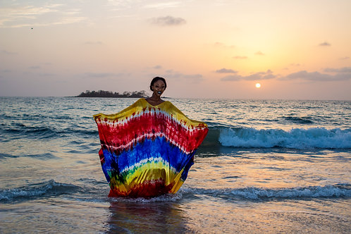 Madam Musu Tie-Dye Print Gown