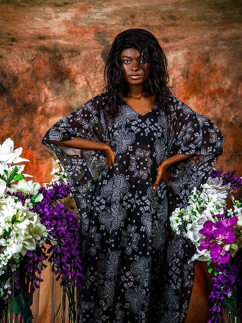 Black & White Mosaic Gown
