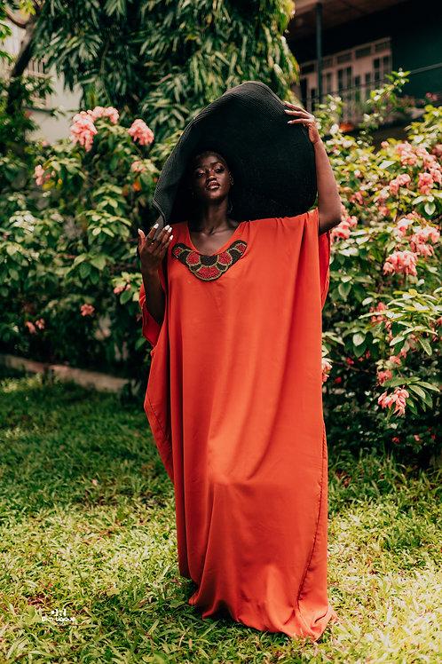 The Orange Embellished Gown