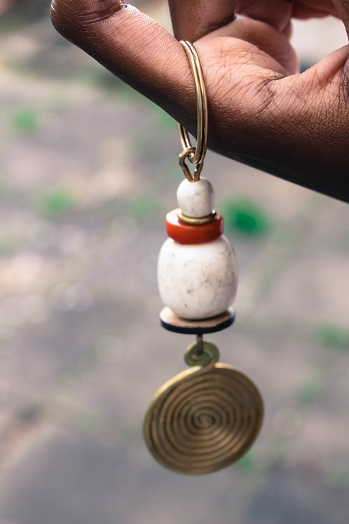 Spiral pendant key ring