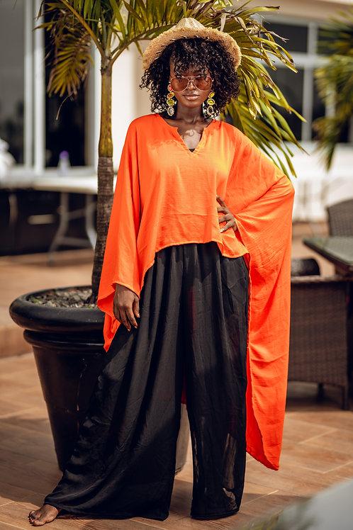 Orange & Black Two-piece set