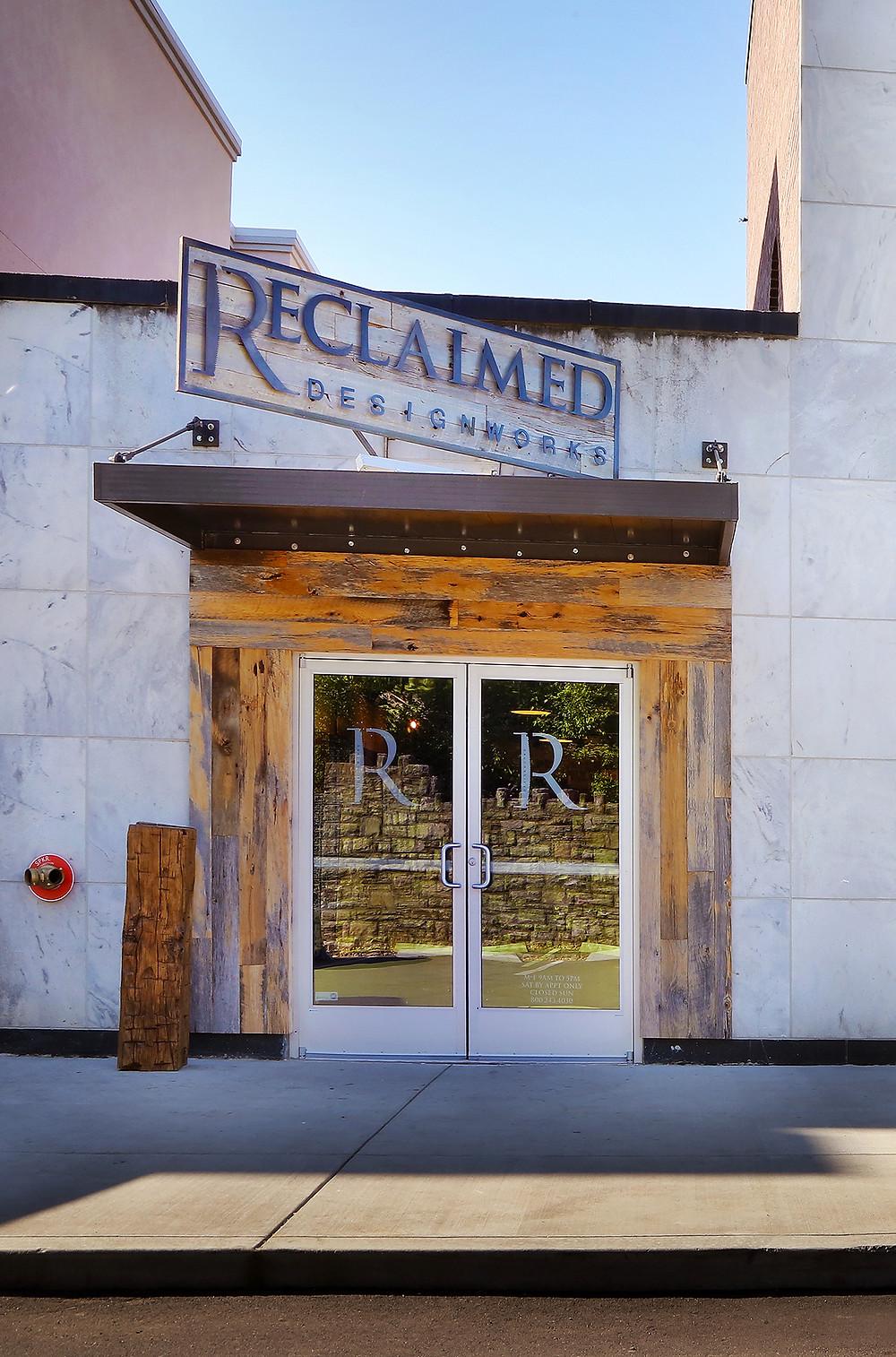 Reclaimed DesignWorks showroom