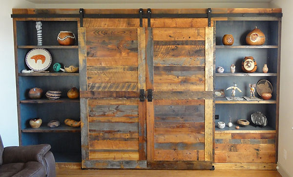 Reclaimed Sliding Barn Wood Doors