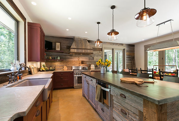 Barn Wood Wall in Kitchen