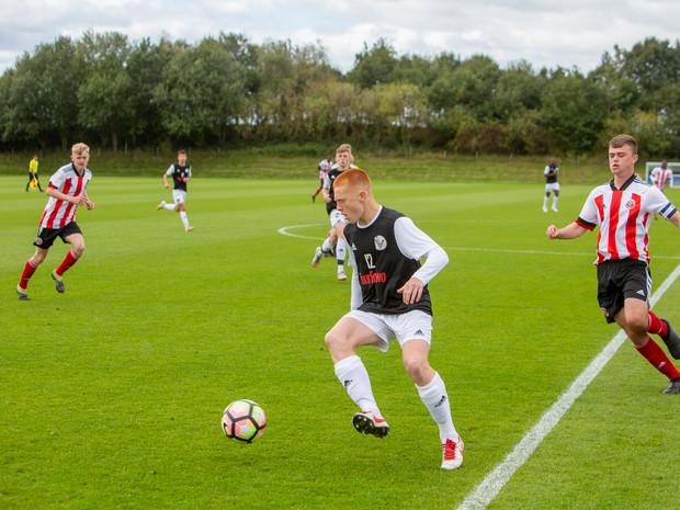 Striker Jamie Norris in action vs Sheffield United