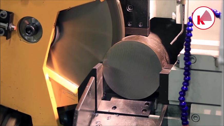 Haas Saw CX 7 cutting 150mm ST52 steel b