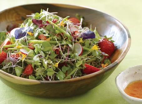 Strawberry & Pea Microgreens Salad