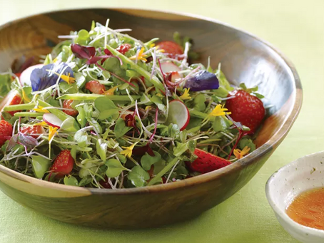 Strawberry & Pea Microgreens Salad