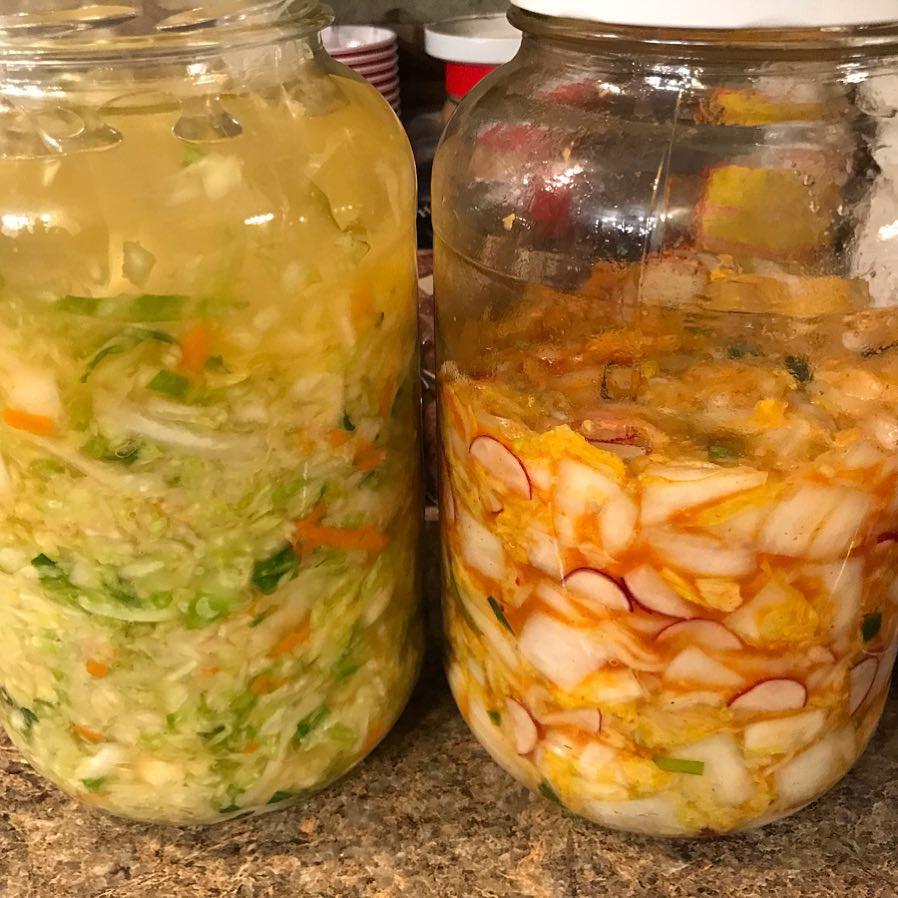 Homemade Sauerkraut and Kimchee using the Basics of Fermentation