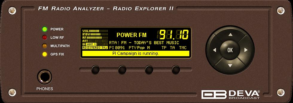 Radio Explorer II Mobile FM Radio Analyzer