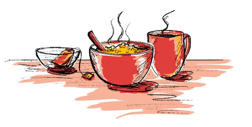 Breakfast - packaging illustration