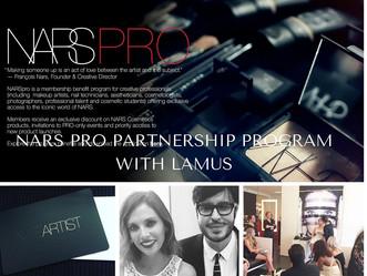NARS PRO PROGRAM PARTNERSHIP WITH NARS COSMETICS