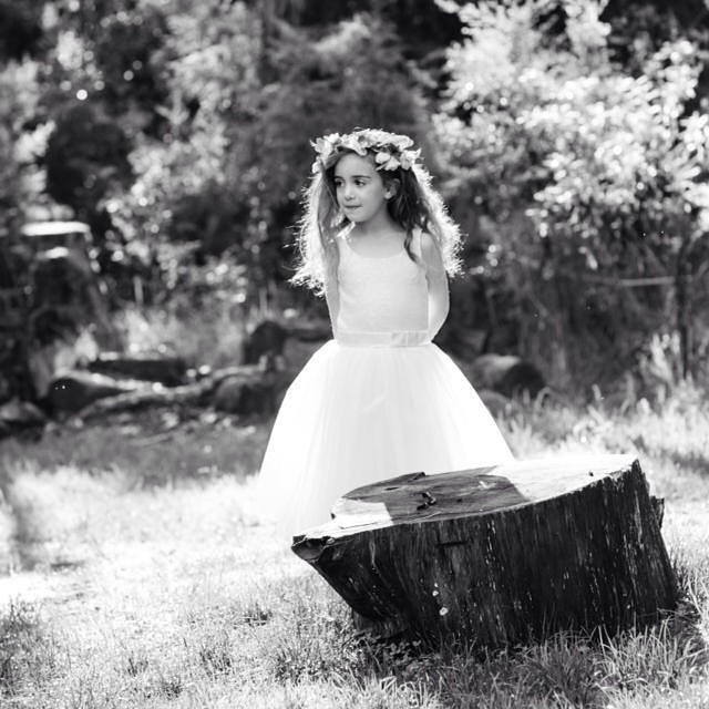Flowergirl in the forrest
