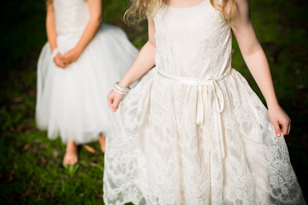 Lace flowergirl dress