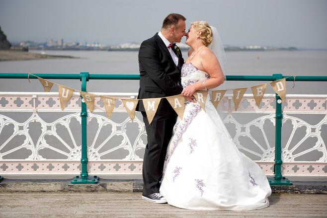 penarth pier wedding photography