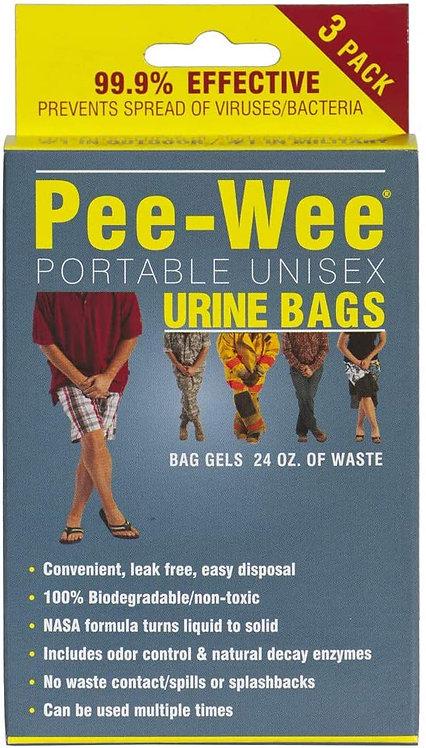 Pee-Wee Unisex Urine Bags-3-Packs
