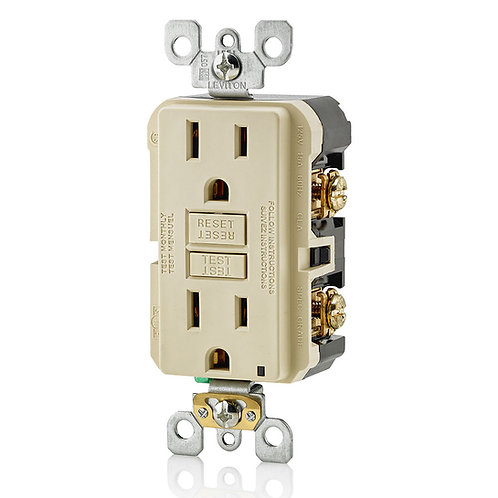 Leviton Self Test GFCI Outlet with wallplate