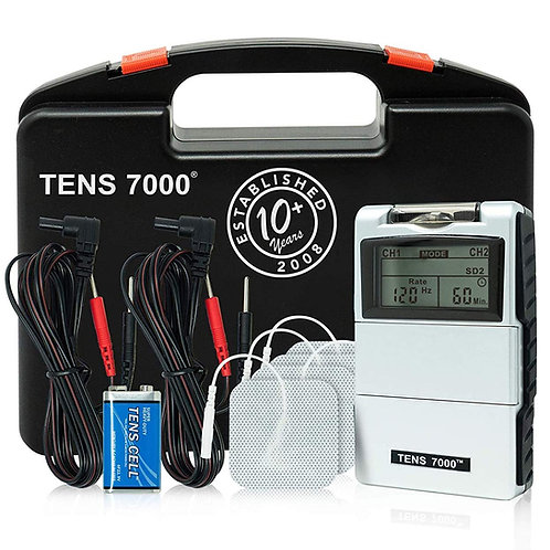 TENS 7000 Digital Unit With Accessories - Muscle Stimulator General Pain Relief
