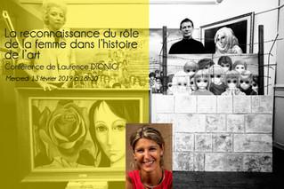 """Conférence """"La reconnaissance du rôle de la femme dans l'histoire de l'art"""" par La"""