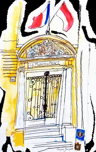 """Exposition """"Maisons de France, carnet de voyage de Virginie Broquet"""" du 1er au 14 juin 201"""