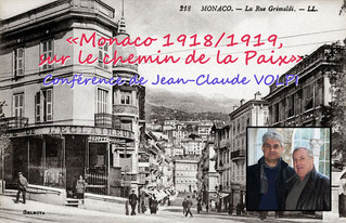 """Conférence """"Monaco 1918/1918, sur le chemin de la Paix"""" par J-C VOLPI"""