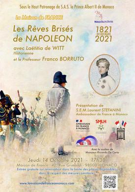 """Conférence """"Les Rêves Brisés de Napoléon"""" par Laëtitia de Witt"""