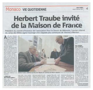 Lundi 6 février 2017 : Séance de dédicaces du livre de Monsieur Herbert Traube