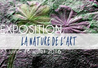"""Exposition """"La nature de l'art""""                23 juin au 16 juillet 2016"""