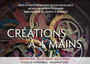 """EXPOSITION - """"Créations à 4 Mains"""" du 18 mars au 16 avril 2021 - CBS"""