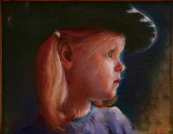 Clementine (oil on panel)