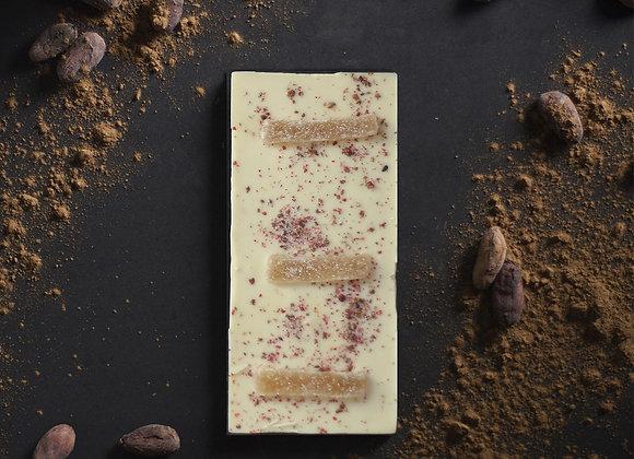 Tablette de chocolat blanc au citron confit