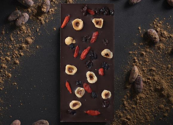 Tablette de chocolat noir aux baies de Goji