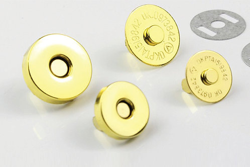 16mm Magnetic Snap - A Little Swag For Your Bag - Gold, Black, Nickel