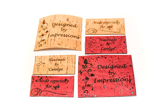 "2""x1"" Rectangular Cork Tags - Fabric Impressions"
