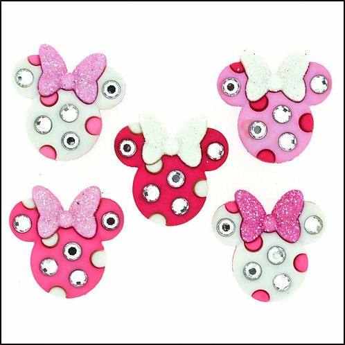 Minnie Rhinestone Heads - Buttons - Notions