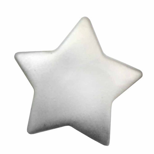 Silver Star Buttons - Notions