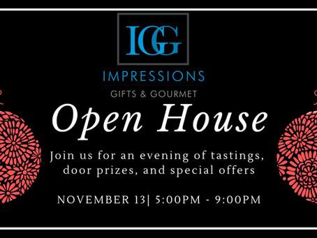 Join us! Open House Nov 13