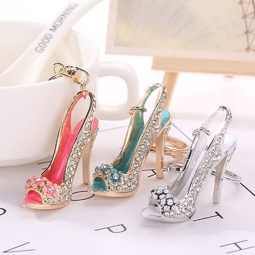 Flower Rhinestone Stiletto - A Little Swag for your Bag