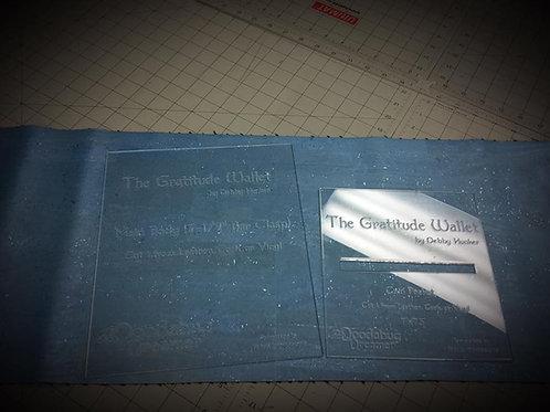 Acrylic Templates for The Gratitude Wallet - Acrylic Templates
