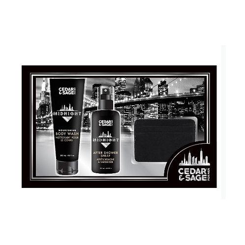 The Cedar & Sage Shower & Nail Care Kit for Men