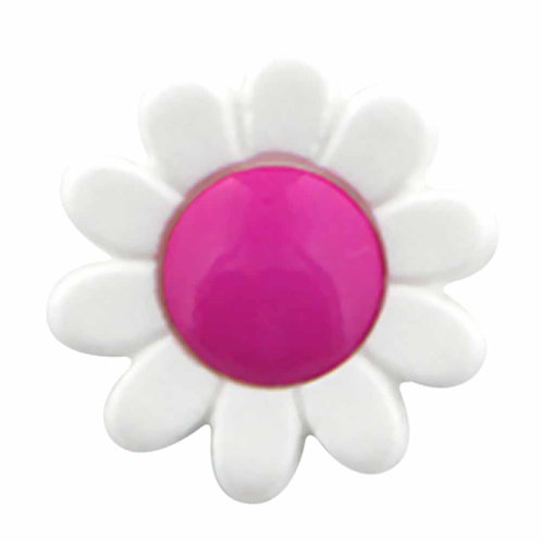 Pink Centre Daisy - Buttons - Notions