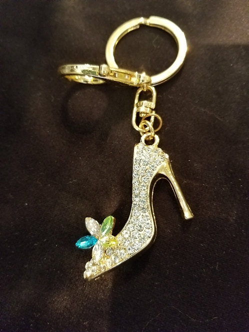 Blue Gem Rhinestone Shoe - A Little Swag for your Bag