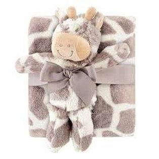 Giraffe Blanket Plush Toy Set