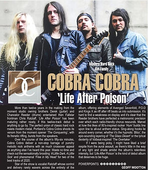 Cobra Cobra Life After Poison review Powerplay rock & metal magazine