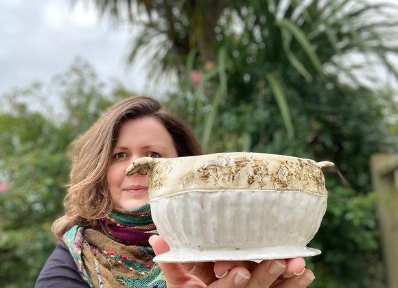 Handbuilt houseplant pot